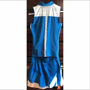 Lady Hagen Blue Golf shirt/skort worn once Sz 2 xs